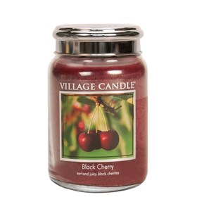 Black Cherry Village Candle 26oz Scented Candle Jar