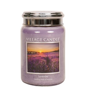 Lavender Village Candle 26oz Scented Candle Jar - Metal Lid