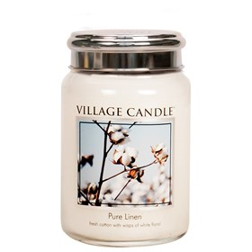 Pure Linen Village Candle 26oz Scented Candle Jar - Metal Lid