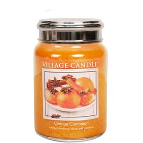 Orange Cinnamon Village Candle 26oz Scented Candle Jar - Metal Lid