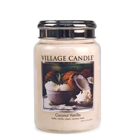 Coconut Vanilla Village Candle 26oz Scented Candle Jar - Metal Lid