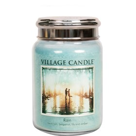 Rain Village Candle 26oz Scented Candle Jar - Metal Lid