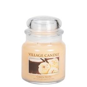 Creamy Vanilla Village Candle Medium Scented Jar