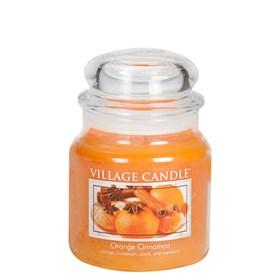Orange Cinnamon Village Candle Medium Scented Jar