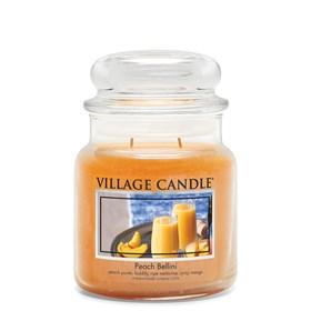 Peach Bellini Village Candle Medium Scented Jar