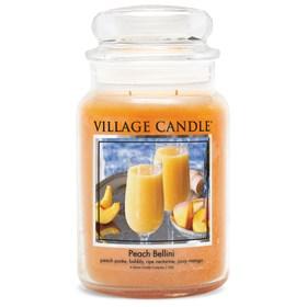 Peach Bellini Village Candle Large Scented Jar