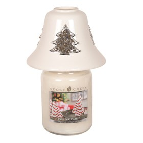 White Ceramic Christmas Tree Jar Shade