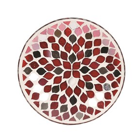 Red Mirror Teardrop Candle Plate