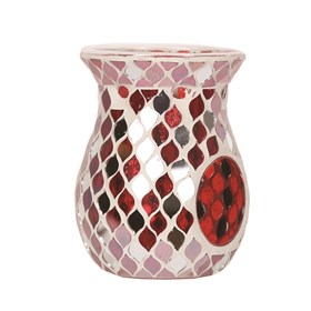 Red Mirror Teardrop Wax Melt Burner