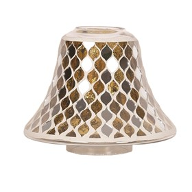 Gold Mirror Teardrop Jar Lamp Shade