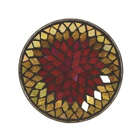 Candle Plate - Purple & Gold Diamond