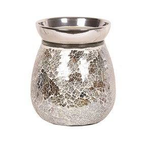 Gold and Silver Crackle Electric Wax Melt Burner