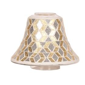 Candle Jar Lamp Shade - Gold & Silver Glitter