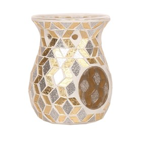 Wax Melt Burner - Gold & Silver Glitter