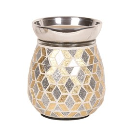 Gold and Silver Glitter Electric Wax Melt Burner