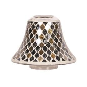 Candle Jar Lamp Shade - Black & Gold Teardrop