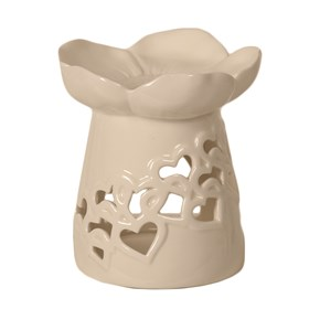 Ceramic Floral & Heart Burner