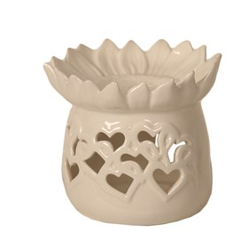 Ceramic Wax Melt Burner - Floral & Heart