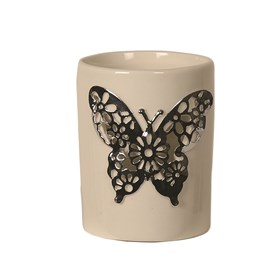 Ceramic Butterfly Votive Holder