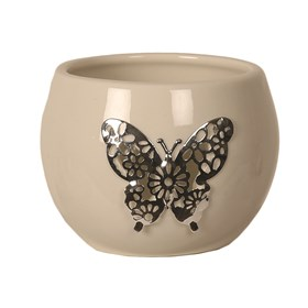 Ceramic Butterfly Tealight Holder
