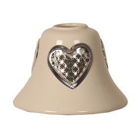 Ceramic Candle Jar Lamp Shade - Heart