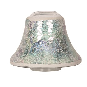 Candle Jar Lamp Shade - Blue Crackle