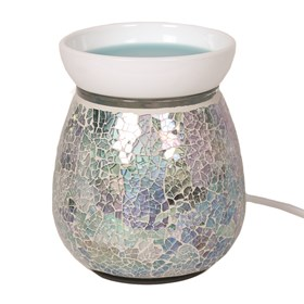Electric Wax Melt Burner - Blue Crackle