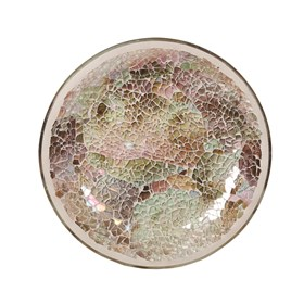 Natural Crackle Candle Plate