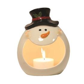 Snowman Tealight Holder 18cm