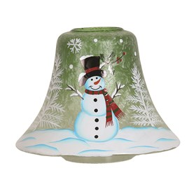 Snowman Candle Jar Lamp Shade