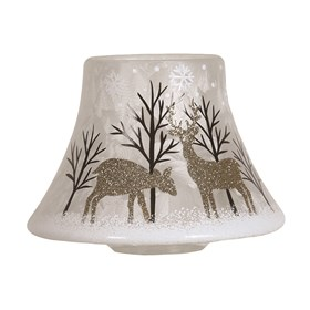 Gold Reindeer Candle Jar Lamp Shade