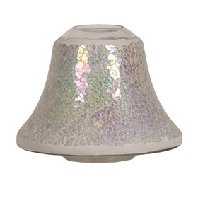 Candle Jar Lamp Shade - Pearl Crackle