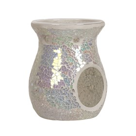 Wax Melt Burner - Pearl Crackle