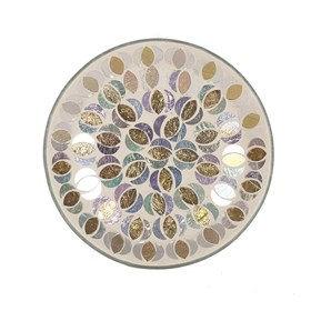 Gold & Silver Moon Candle Plate