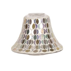 Candle Jar Lamp Shade - Gold & Silver Moon