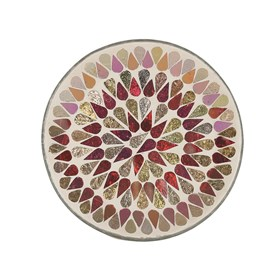 Candle Plate - Red Shimmer