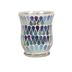 Hurricane Tealight Holder - Blue Shimmer