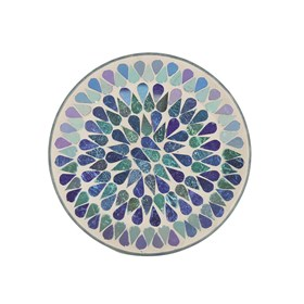 Blue Shimmer Candle Plate