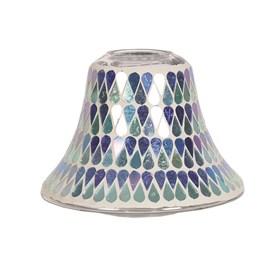 Candle Jar Lamp Shade - Blue Shimmer