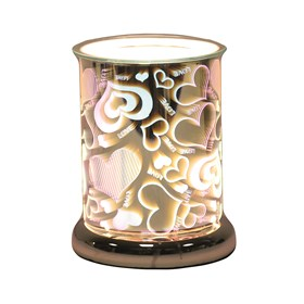 Cylinder 3D Electric Wax Melt Burner - Love