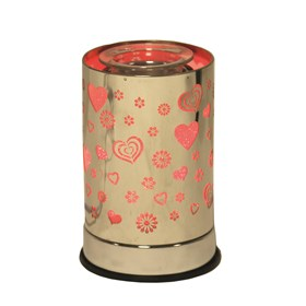 Cylinder Electric Wax Melt Burner - Heart