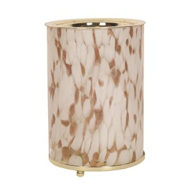 Wax Melt Burner - Gold Art Glass