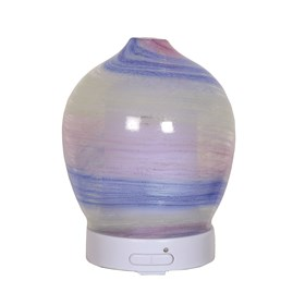 LED Ultrasonic Diffuser - Blue Art Glass