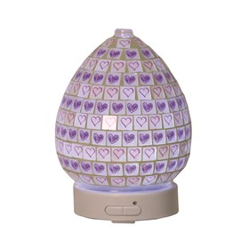 LED Ultrasonic Diffuser - Lilac Heart