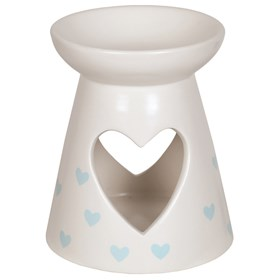 Ceramic Wax Melt Burner - Blue Heart