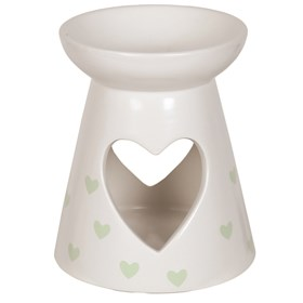 Ceramic Wax Melt Burner - Green Heart