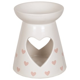 Ceramic Wax Melt Burner - Pink Heart