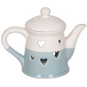 Teapot Wax Melt Burner - Blue Heart