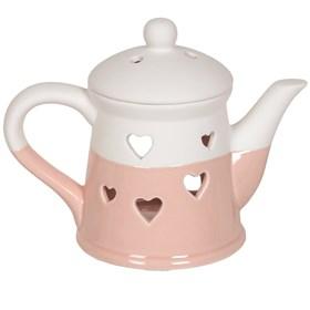 Teapot Wax Melt Burner - Pink Heart