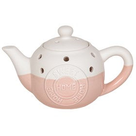 Teapot Wax Melt Burner - Home Sweet Home Pink